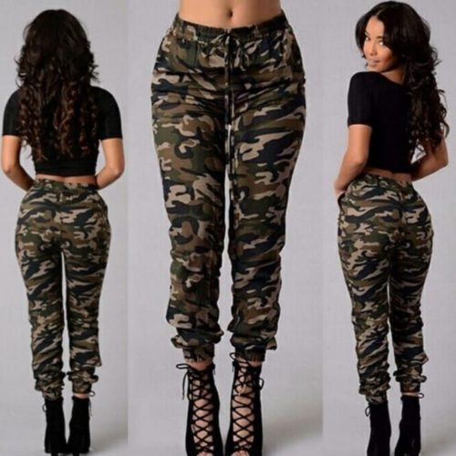 Ladies camouflage jeans